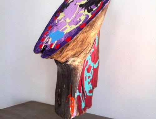 Totem 6 – Peinture sur bois