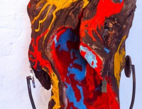 Totem 8 – Peinture sur bois