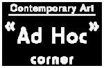 Galerie d'art Ad Hoc Corner Logo